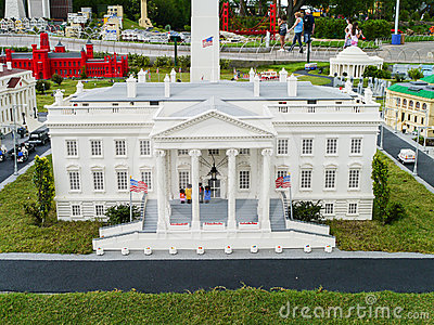 White House Made from Legos at Legoland Florida Le Editorial Image