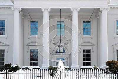 White House Portico in Winter