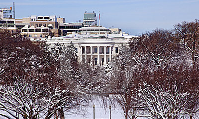 White House After Snow Washington DC