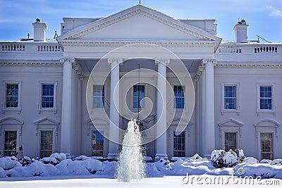 White House Snow Washington DC