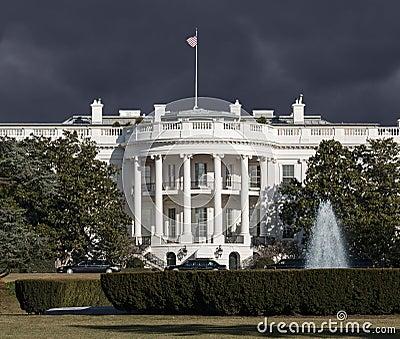 White House Storm Sky