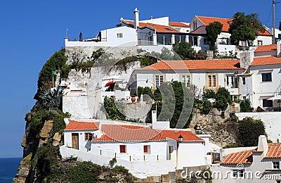 White houses of Azenhas do Mar, Portugal