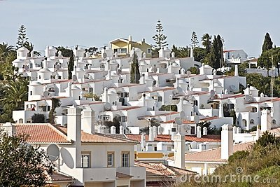 White houses in Carvoeiro Portugal
