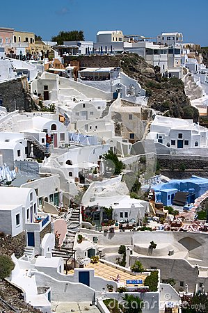 White houses on a cliff