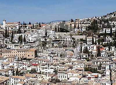 White houses in Granada