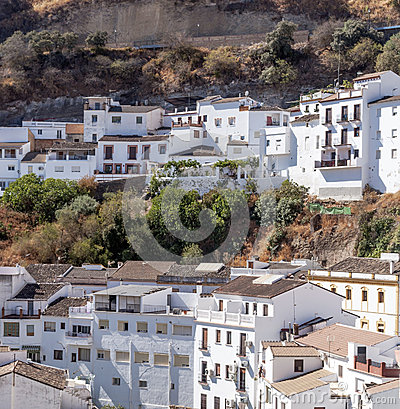 White houses on hillside