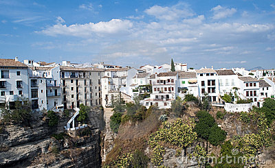 White houses in Ronda