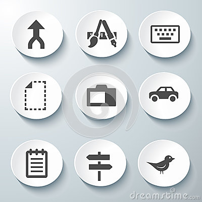 White Icon Vector