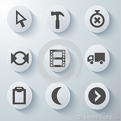 White icons set