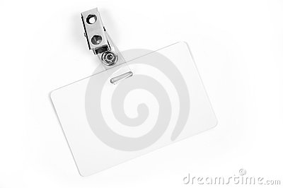 White ID card