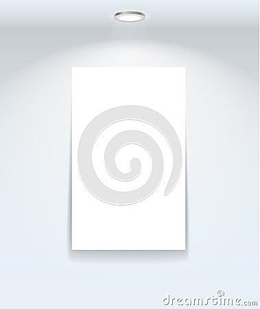 White illuminated board on the wall