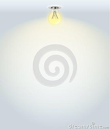 White illuminated wall