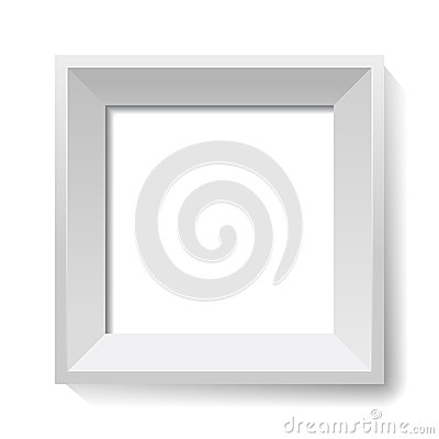 White image and photo frame. Vector.