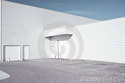 White industrial architecture