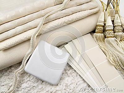 White interior design plan