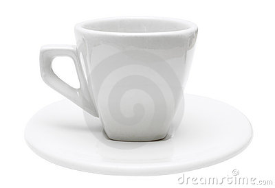 White Isolated Espresso Cup (Path Included)