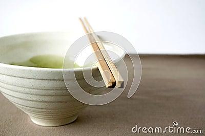 White japanese bowl