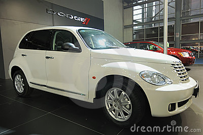 White Jeep pt cruiser Editorial Photo