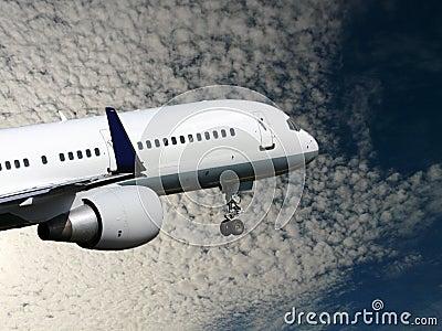 White jet takes off
