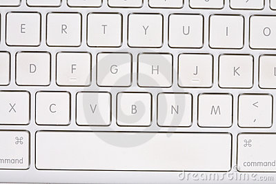 White keyboard with letters and numbers.