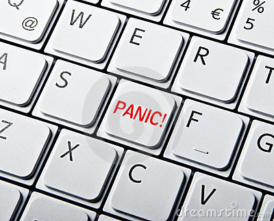 White Keyboard with Panic Button