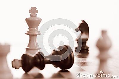 White king wins chess game