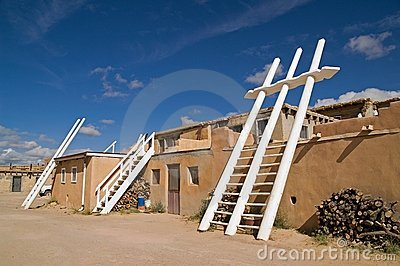 White Kiva  Ladders in Pueblo