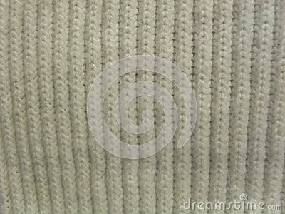 White knit closeup
