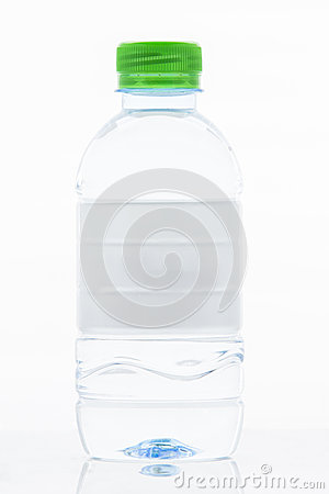 Free White Label Water Bottle Isolated Royalty Free Stock Photos - 46374918