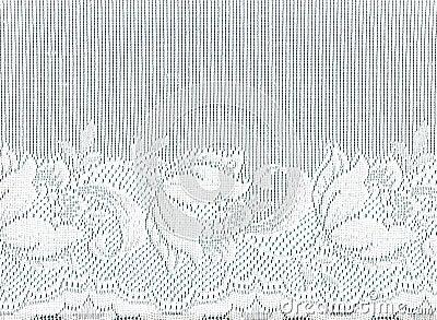 White lace border .