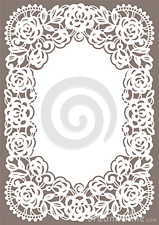 Free White Lace Card. Stock Images - 54878954