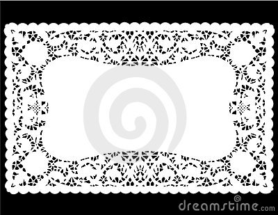 White Lace Doily Place Mat