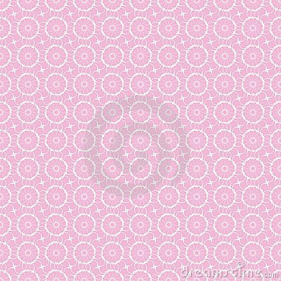 White lace on pink, seamless background
