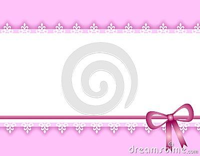 White Lace Purple Ribbon Border Background