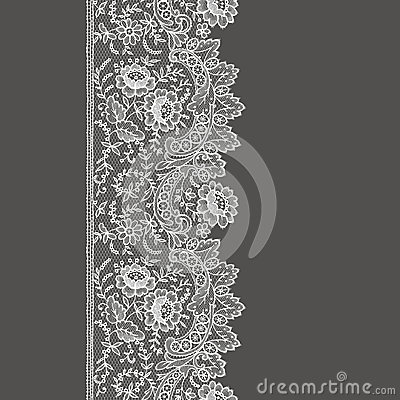 Free White Lace Seamless Pattern. Stock Photo - 59634790