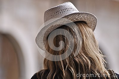 White ladies hat