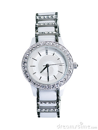 Free White Ladies Watch Royalty Free Stock Photography - 25778407