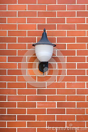 Free White Lamp Red Brick Wall Stock Photography - 29839462