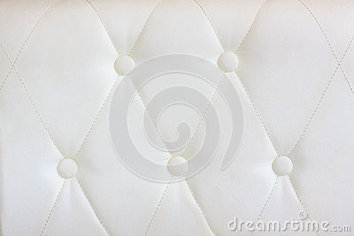 White  leather with button decorated