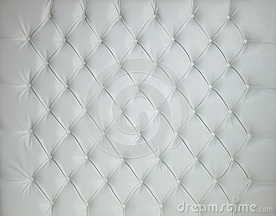 WHITE LEATHER PADDED STUDDED LUXURY BACKGROUND