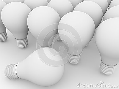 White lightbulbs