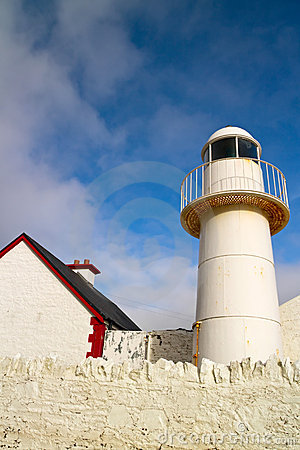 White lighthouse in Dingle