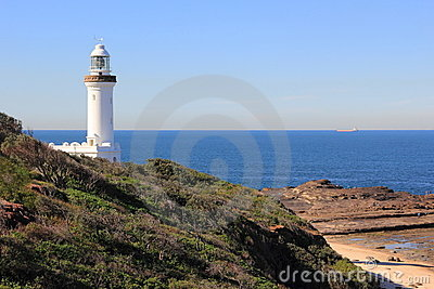 Lighthouse coastal scenery