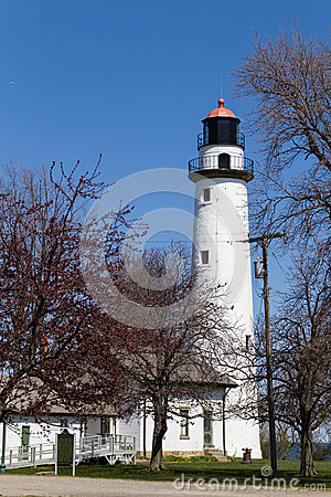 White lighthouse in Port Huron, USA