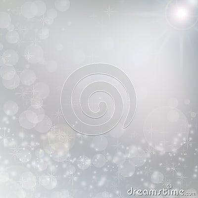 White lights on grey christmas background