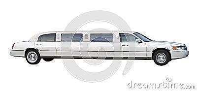 White limousine cutout