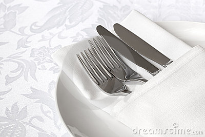 White Linen Place Setting