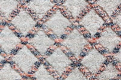 White linen texture with diamond pattern