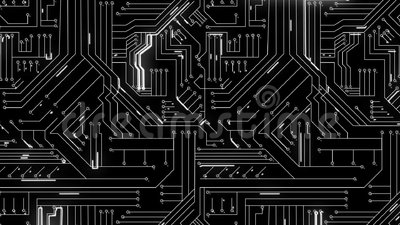 White Lines Moving Through Circuit Board Stock Video - Video of ...
