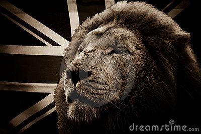 White Lion and British flag